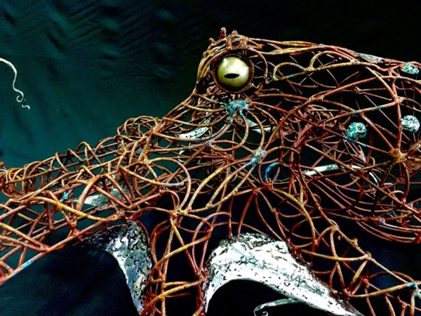 Sculptures of octopus and Sea creatures direct to designers by Rusty Croft, Carmel California