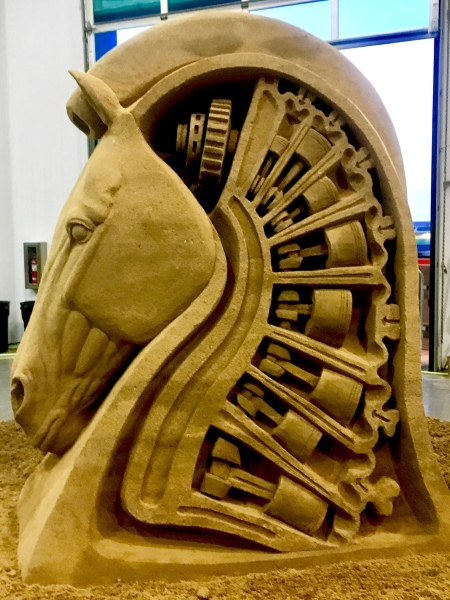 Sand sculptures by Rusty Croft, Carmel California.